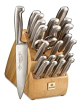Hot Sale Mundial Future 24-Piece Knife Set with Block
