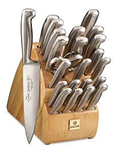 Mundial Future 24-Piece Knife Set with Block