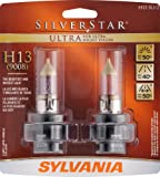 Sylvania H13 SU SilverStar Ultra Halogen Headlight Bulb (Low/High Beam), (Pack of 2)