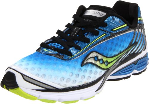 Saucony Men's Powergrid Cortana Running Shoe,Royal/White/Citron,8.5 M US