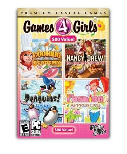MumboJumbo 10680 Games 4 Girls (Cooking Academy / Nancy Drew: The Haunted Carousel / Penguins! / Fashion Apprentice)