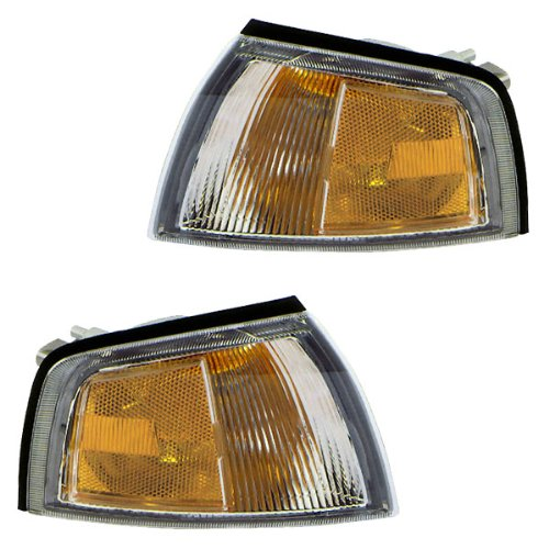 1997-2002 Mitsubishi Mirage 2-Door Coupe Corner Park Lamp Turn Signal Marker Light Set Pair Left Driver AND Right Passenger Side (1997 97 1998 98 1999 99 2000 00 2001 01 2002 02)