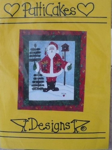 Jolly St. Nick - Fabric Painting - #307 by Patticakes
