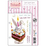 Crafter's Companion Bebunni EZMount Cling Stamp Set, 5.5 by 8.5-Inch, Yum Yum Yum