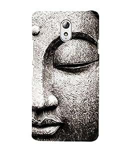 Buddha Statue 3D Hard Polycarbonate Designer Back Case Cover for Lenovo Vibe P1M
