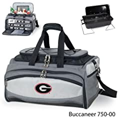 Georgia Bulldogs All-In-One Buccaneer Tailgating Cooler w  Grill, Tools and Bag w... by Picnic Time