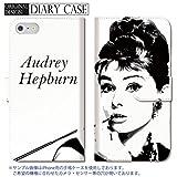 301-sanmaruichi- iPhone7 手帳型ケース iPhone7 ケース 手帳型 おしゃれ Audrey Hepburn オードリー・ヘップバーン オードリー A 手帳ケース
