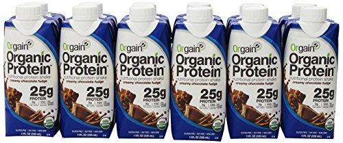 Orgain Protein Nutritional Protein Shake, Creamy Chocolate Fudge, 11 Ounce (Pack of 12)