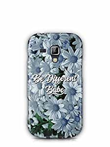 YuBingo Be Different Babe Designer Mobile Case Back Cover for Samsung Galaxy S Duos 2