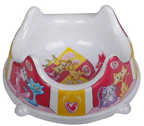 Imitation Porcelain Pet Feeder Pet Bowl For Cat Dog Hamster Little Rabbit Dog Bowl (Pink)