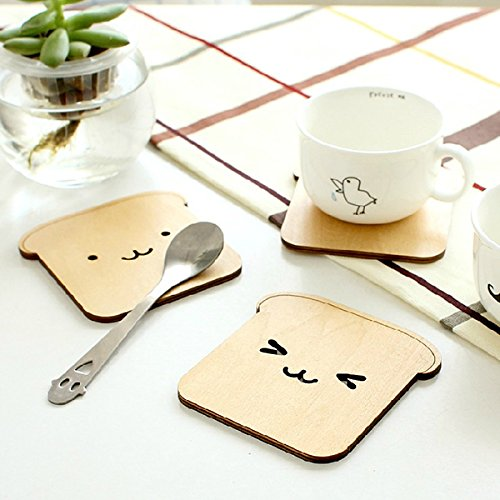 New Wooden Adorable Cute Happy Dog Toast Drink Cup Thermal Insulation Mat Pad Coaster Placemat Drop Shipping