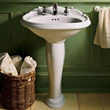American Standard Reminiscence Pedestal Sink Top with 8-Inch Center Faucet Spacing