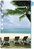 Day-Timer Desk-Size Monthly Refill 2015, Coastlines, 5.5 x 8.5 Inch Page Size (13300)