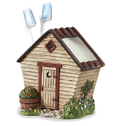 "Bathroom Accessories - ""Woodland Outhouse"" Toothbrush Holder"