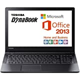 東芝 Dynabook Satellite PB35RNAD4R3JD81 Windows7 Professional 32/64Bit Celeron 4GB 500GB DVDスーパーマルチ 無線LAN IEEE802.11ac/a/b/g/n Bluetooth USB3.0 10キー付キーボード (Office搭載(Microsoft Office Home and Business 2013))