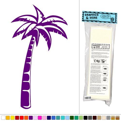 Palm Tree Single - Island Beach - Vinyl Sticker Decal Wall Art Decor - Violet front-999742