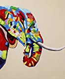 """""""Big Guy"""" -100% Hand Painted Oil Paintings -Decorative Oil on Canvas -Animals Dadaism Art Canvas (24""""×36"""" Gallery Wrap)"""