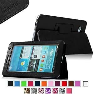 Fintie Slim Fit Folio Case Cover for Samsung Galaxy Tab 7.0 Plus / Samsung Galaxy Tab 2 7.0 Tablet - Black