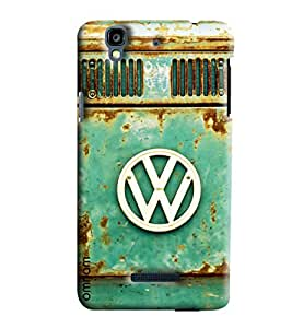 Omnam Volkswagon Logo Of Car Printed Designer Back Cover Case For Micromax Yureka