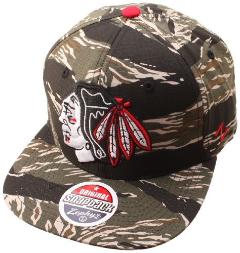 NHL Chicago Blackhawks Urban Jungle Hat, Camo/Tiger at Amazon.com