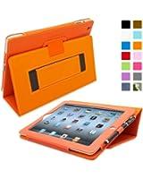 Snugg™ Étui Pour iPad 2 - Smart Cover Avec Support Pied Et Une Garantie à Vie (En Cuir Orange) Pour Apple iPad 2