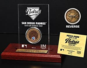 Highland Mint MLB San Diego Padres Petco Park Infield Dirt Coin Etched Acrylic by Highland Mint