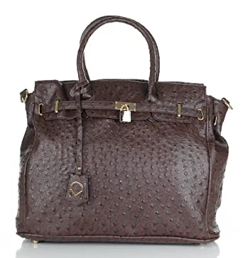 Noble Mount London Office Tote - Ostrich Coffee
