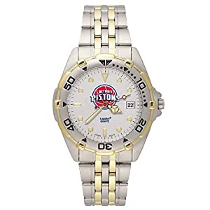 NSNSW22191Q-Mens Stainless Steel Detroit Pistons Watch by NBA Officially Licensed