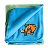 Anna Claire Beautiful Designed Baby Receiving Blanket, Double Sided Designs, Swaddle Blankets (Baja) ~ ZZ Home