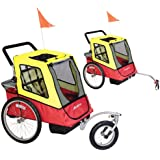 Avenir Discovery Dual Bicycle Trailer and Stroller Combination