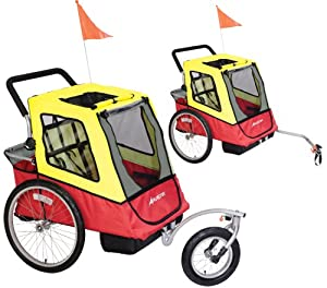 Avenir Discovery Dual Bicycle Trailer and Stroller Combination by Avenir