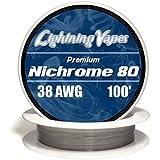 Genuine Lightning Vapes ® 38 AWG Nichrome 80 Wire 25' 50' 100' 250' 500' 1000' (100')