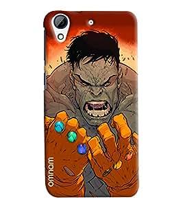 Omnam Hulk Man Annoying Printed Designer Back Cover Case For HTC Desire 728