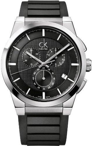 Calvin Klein K2S371D1 - Reloj para hombres, correa de goma color negro