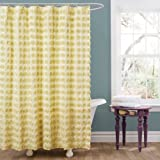 Lush Decor Emma Shower Curtain, 72 by 72-Inch, Yellow