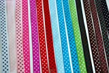 Polka Dot Grosgrain Ribbon-16 Colors of 3/8""