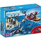 Playmobil 5020 Giant Octopus avec bateau pirate et insulaires