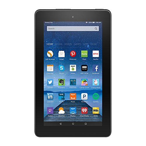 "Fire, 7"" Display, Wi-Fi, 8 GB - Includes Special Offers, Black"