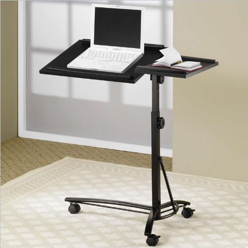 Coaster Desks Laptop Computer Stand With Adjustable Swivel Top And Casters back-956800