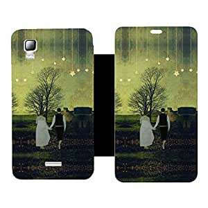 Phone Candy Designer Flip Cover with hi-res printed Vinyl sticker wrap-around for Micromax Canvas Doodle 3 A102