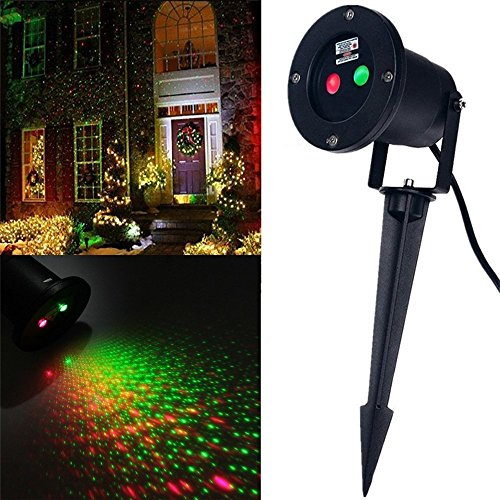 Wall Decoration Laser Lights : Auskic laser light projector green and red outdoor