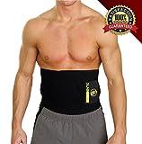 Slabstone Waist Trimmer Ab Belt - Tummy Tuck Belt - Stomach Wraps for Weight Loss - Home Gym Weights - Belly Fat Burner - Tummy Wrap - Weight loss Belt for Men and Women - Abdominal Sweat Sauna Belt