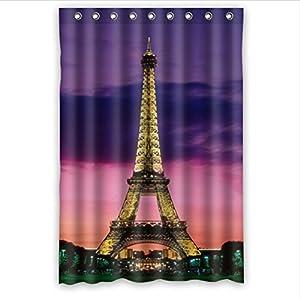"Amazon.com - 48"" x 72"" Eiffel Tower Waterproof Bathroom ..."