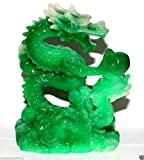 NEW Jade Color Feng Shui Dragon Figurine Statue for Luck & Success #L