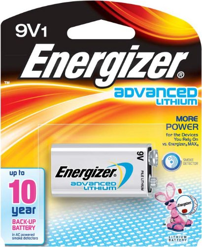 Energizer LA522SBP 9V Lithium Battery for Smoke Detectors (Fire Alarm Battery compare prices)