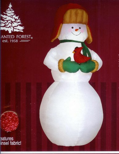 Country Snowman w/ Cardinal 8 Ft. Tall Christmas