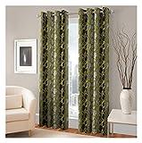 FASHIONFAB 2 Piece Polyester Window Curtain - 5ft, Green