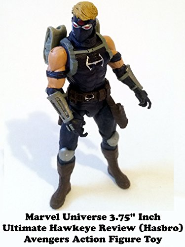 "Marvel Universe ULTIMATE HAWKEYE 3.75"" inch Review (Hasbro) Avengers movie line action figure toy"