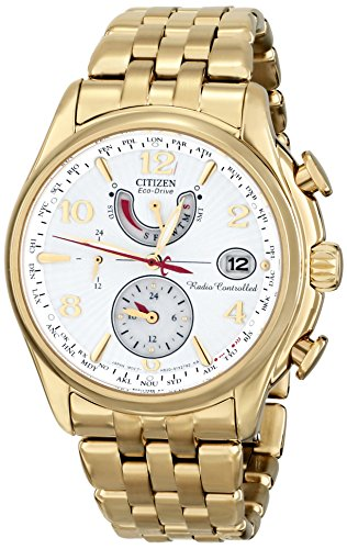 Citizen Eco-Drive World Time A-T Stainless Steel - Gold-Tone Women's watch #FC0002-53A