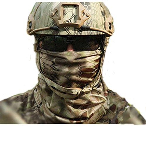 Aiyuda multiuso, mimetico militare tattica ad asciugatura rapida Copricapo Sciarpa-scaldacollo da uomo per escursionismo, da donna, da ciclismo